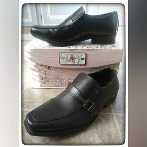 Dexter Black Slip On Dress Shoes Sz 8